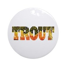 Brook TROUT Ornament (Round)