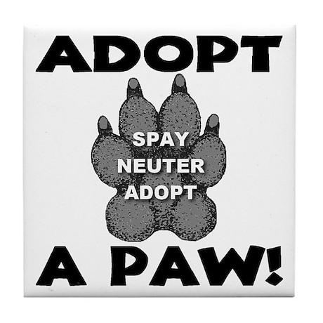 Adopt A Paw: Spay! Neuter! Ad Tile Coaster