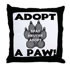 Adopt A Paw: Spay! Neuter! Ad Throw Pillow
