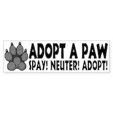 Adopt A Paw: Spay! Neuter! Ad Bumper Bumper Sticker
