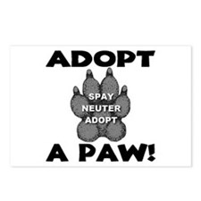 Adopt A Paw: Spay! Neuter! Ad Postcards (Package o