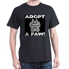 Adopt A Paw: Spay! Neuter! Ad T-Shirt