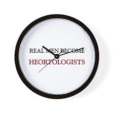 Real Men Become Heortologists Wall Clock