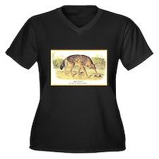 Audubon Red Wolf Animal (Front) Women's Plus Size