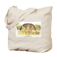 Audubon Red Wolf Animal Tote Bag