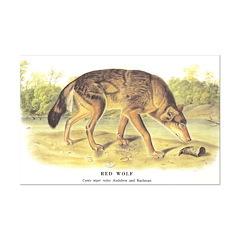 Audubon Red Wolf Animal Posters