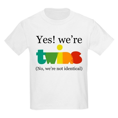 Yes! We're Twins (Fraternal) Kids Light T-Shirt