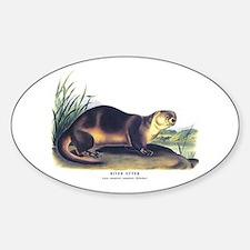 Audubon River Otter Animal Oval Decal
