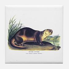 Audubon River Otter Animal Tile Coaster