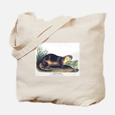 Audubon River Otter Animal Tote Bag