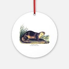 Audubon River Otter Animal Ornament (Round)