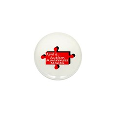 April Is Autism Awareness Month Mini Button (10 pa