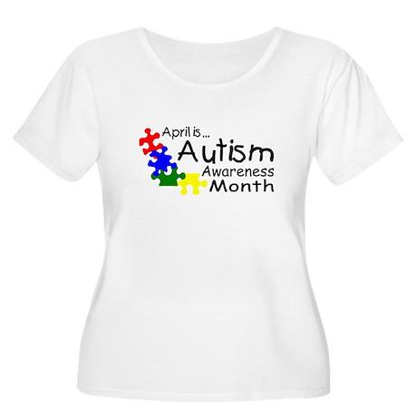 April Is Autism Awareness Month Women's Plus Size