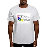 Autism awareness Mens Light T-shirts