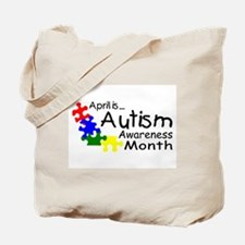 April Is Autism Awareness Month Tote Bag