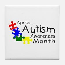 April Is Autism Awareness Month Tile Coaster