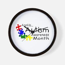 April Is Autism Awareness Month Wall Clock
