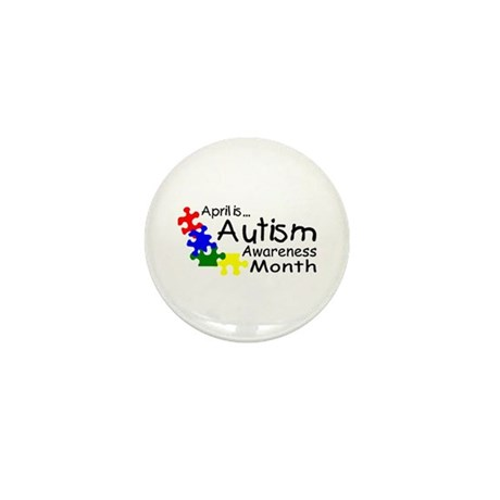 April Is Autism Awareness Month Mini Button (10 pa