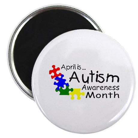 "April Is Autism Awareness Month 2.25"" Magnet (10 p"