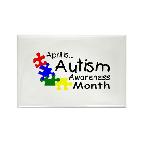 April Is Autism Awareness Month Rectangle Magnet (