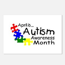 April Is Autism Awareness Month Postcards (Package