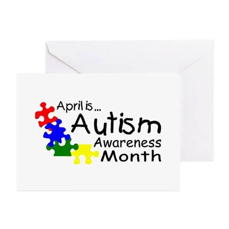 April Is Autism Awareness Month Greeting Cards (Pk by