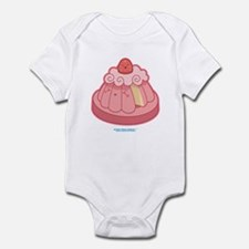 Kawaii Strawberry Sponge Cake Infant Bodysuit