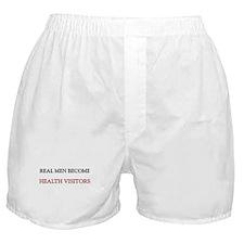 Real Men Become Health Visitors Boxer Shorts