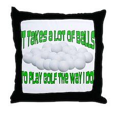 A Lot of Balls (Golf) Throw Pillow