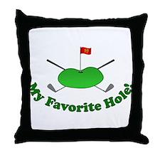 19th Hole Throw Pillow