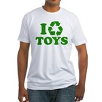 I Recycle Toys Fitted T-Shirt