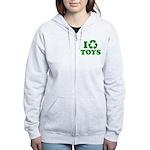 I Recycle Toys Women's Zip Hoodie
