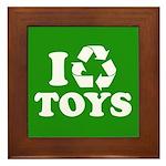 I Recycle Toys Framed Tile
