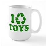 I Recycle Toys Large Mug