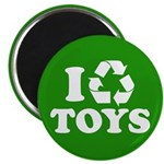"""I Recycle Toys 2.25"""" Magnet (10 pack)"""