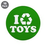"""I Recycle Toys 3.5"""" Button (10 pack)"""