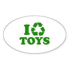 I Recycle Toys Oval Decal