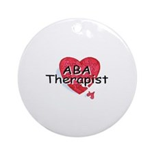ABA Therapist Ornament (Round)