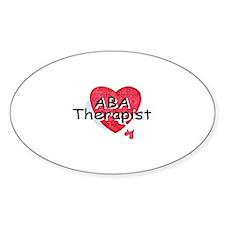 ABA Therapist Oval Sticker (10 pk)