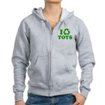 I Recycle Toys Women's Zip Hoodie