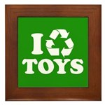 I Recycle Toys Framed Tile