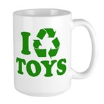 I Recycle Toys Large Mug