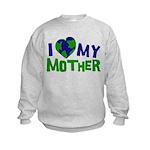 I Heart My Mother Earth Kids Sweatshirt