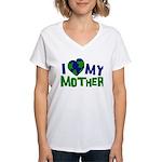 I Heart My Mother Earth Women's V-Neck T-Shirt