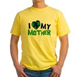 I Heart My Mother Earth Yellow T-Shirt