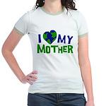 I Heart My Mother Earth Jr. Ringer T-Shirt