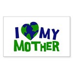 I Heart My Mother Earth Rectangle Sticker