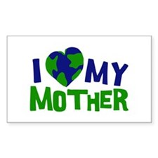 I Heart My Mother Earth Rectangle Decal