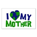 I Heart My Mother Earth Rectangle Sticker 50 pk)