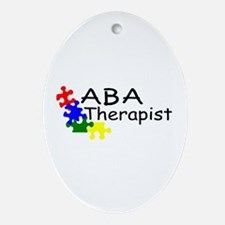 ABA Therapist Oval Ornament